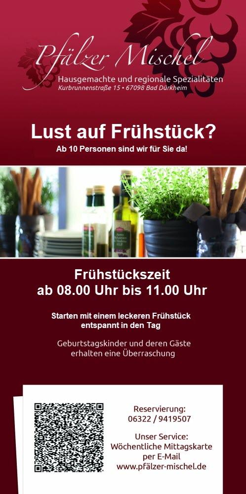 """Flyer Pfälzer Mischel, """"Lust auf Frühstück"""""""