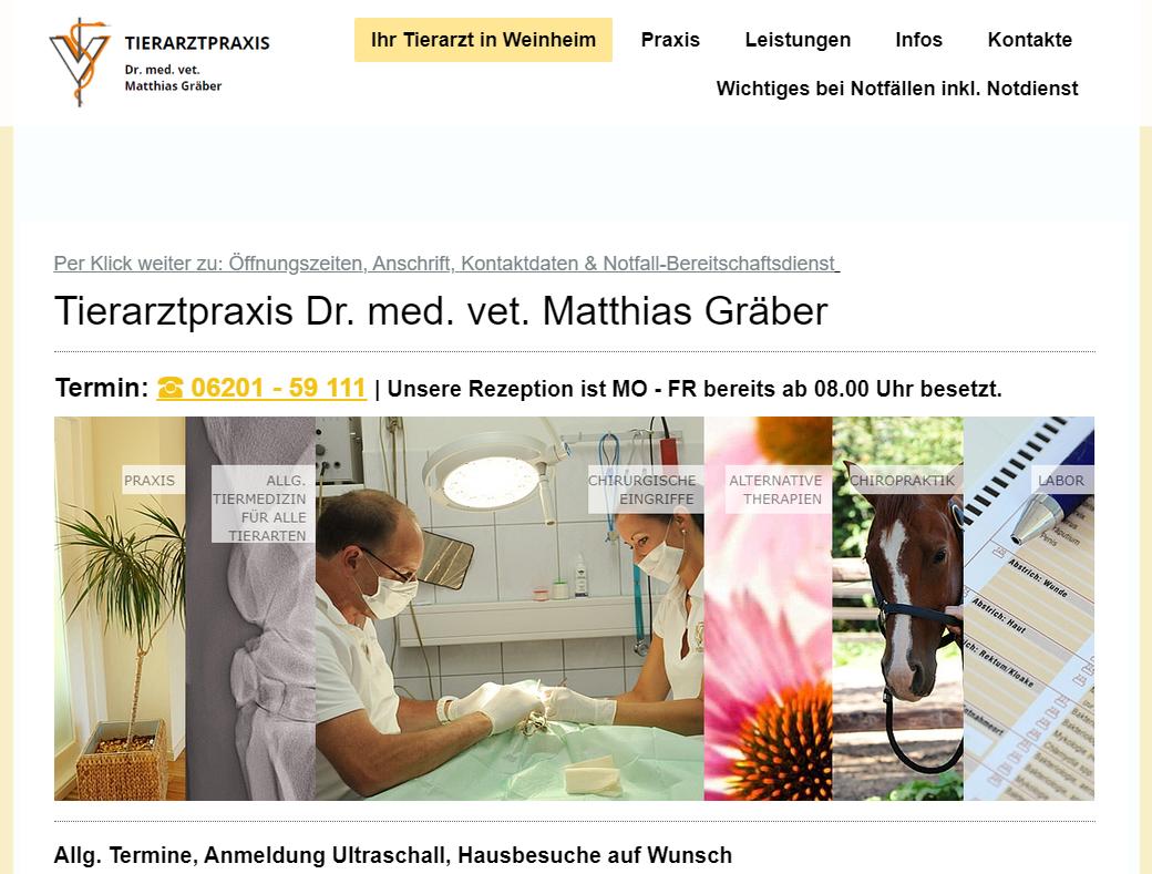 Per Klick ins Bild werden Sie zur Homepage https://www.tierarzt-weinheim.de/ weitergeleitet.