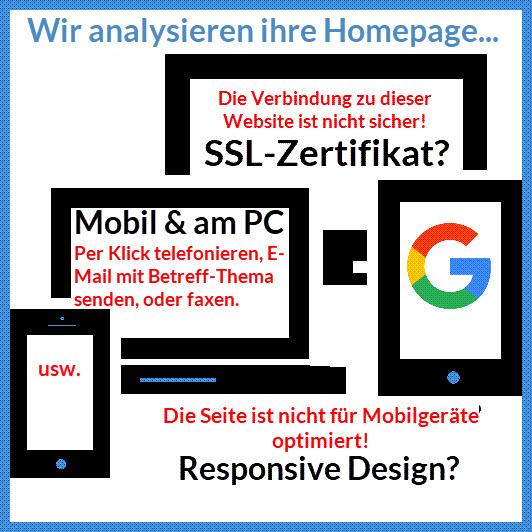 Bild: Icon Wir analysieren ihre Homepage...