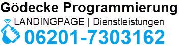 Bild Gödecke Programmierung mit Festnetznummer 06201-7303162