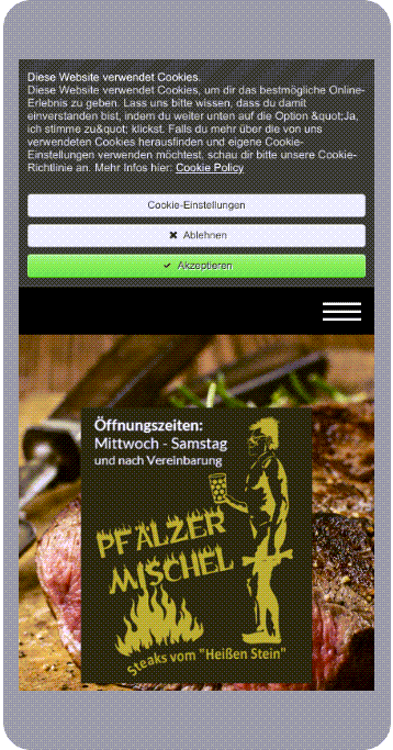 Mobilansicht Pfälzer Mischel | Startseite + Cookie-Info