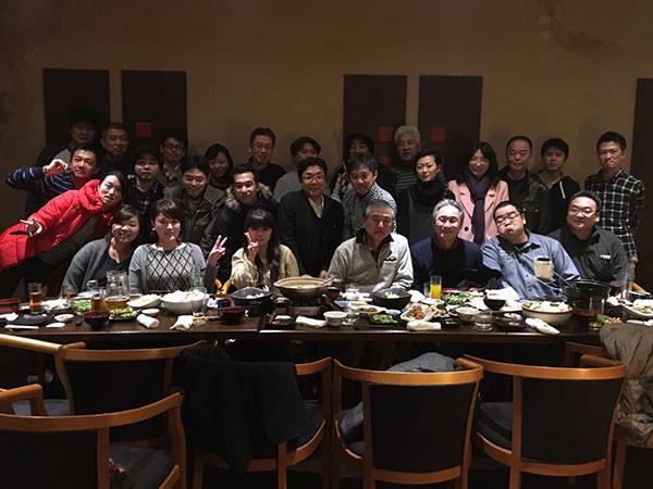 上海・宮城県人会、上海山形県人会集合写真