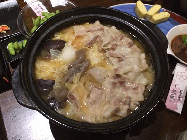 宮城県の芋煮(味噌味、豚肉)