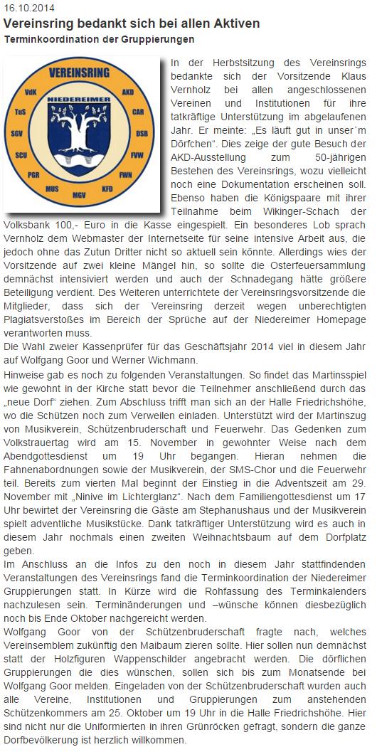 von der Website Niedereimer vom 16.10.2014