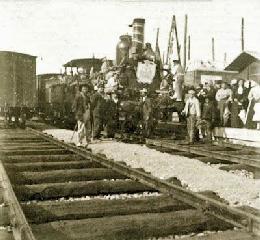 La inauguración del ferrocarril en Valencia.