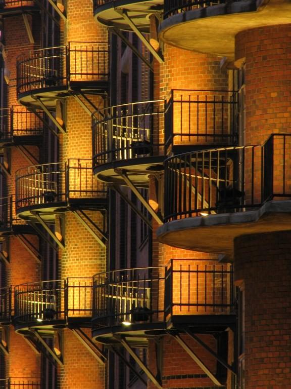 Balkone in der Speicherstadt