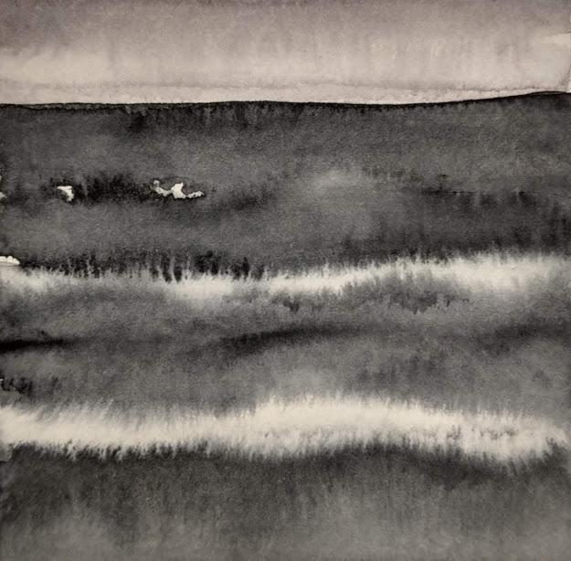 'Promenade' no.1 / 10x10 cm / aquarelle on paper