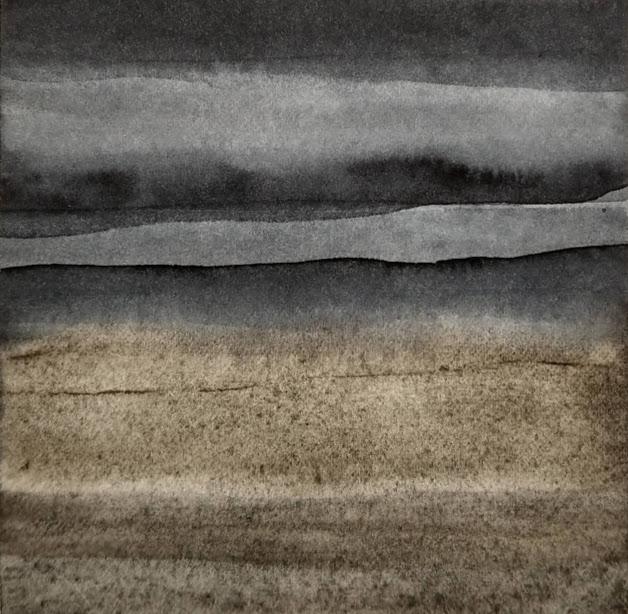 'Promenade' no.2 / 10x10 cm / aquarelle on paper
