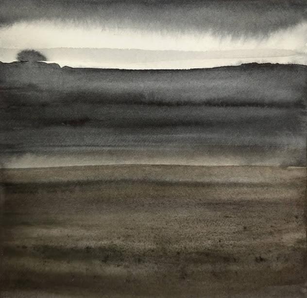 'Promenade' no.6 / 15x15 cm / aquarelle on paper