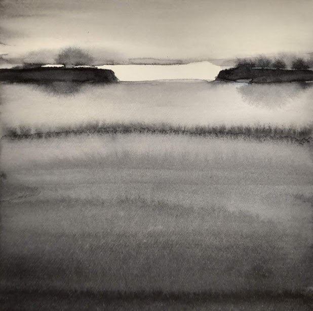 'Promenade' no.7 / 15x15 cm / aquarelle on paper