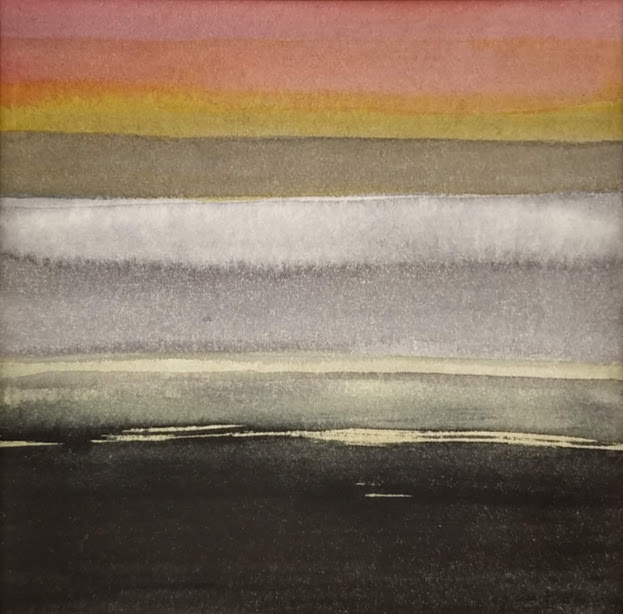 'Promenade' no.3 / 10x10 cm / aquarelle on paper