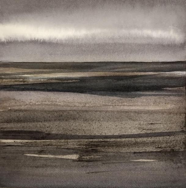 'Promenade' no.5 / 15x15 cm / aquarelle on paper