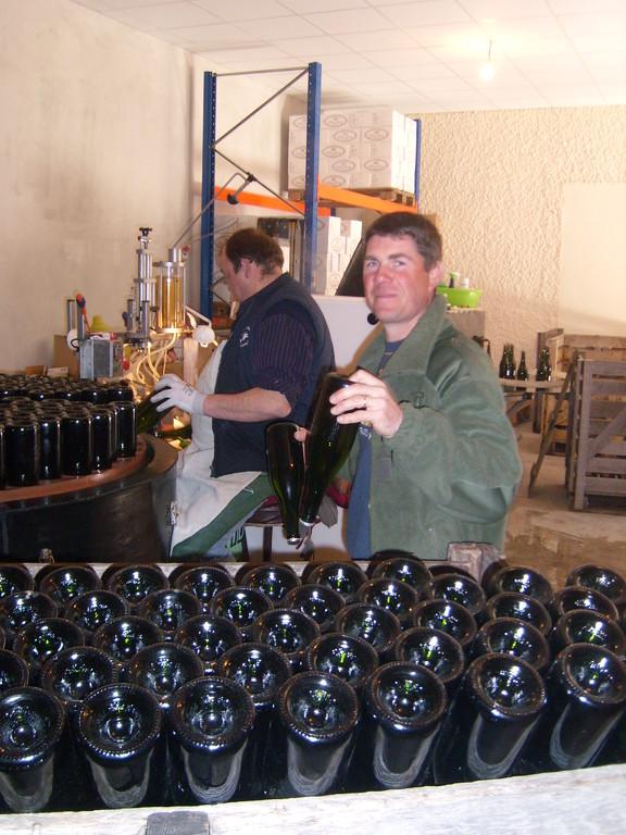 bouteilles sur pointe