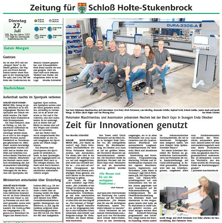 Westfalenblatt-Bericht: Zeit für Innovationen genutzt