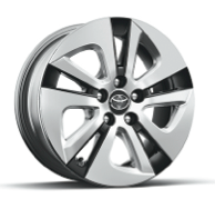 TWO Eco, THREE and FOUR 15-in. 5-spoke alloy wheels with two-tone wheel covers