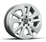 TWO 15-in. 5-spoke alloy wheels with full wheel covers