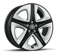 THREE Touring and FOUR Touring 17-in. 5-spoke alloy wheels