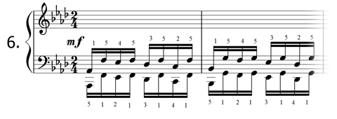 Piano technique exercise N°6 in Ab