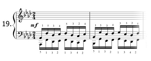 Piano technique exercise N°19 in Ab