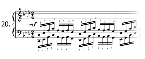 Piano technique exercise N°20 in Ab