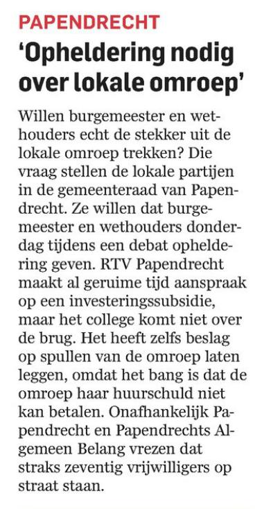 Artikel AD De Dordtenaar 02 maart 2015