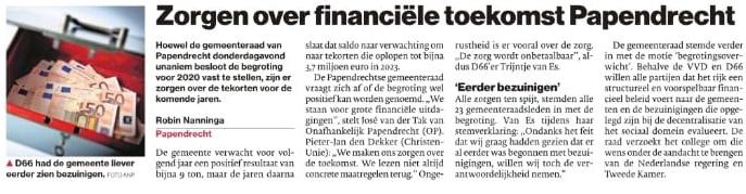 Artikel Algemeen Dagblad katern Drechtsteden