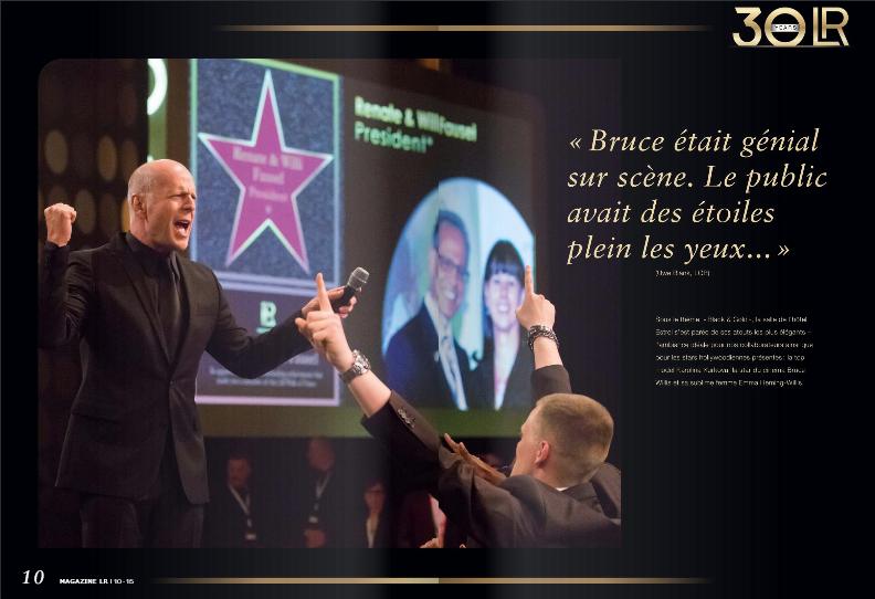 La fête des 30 ans de LR avec Bruce Willis en 2015