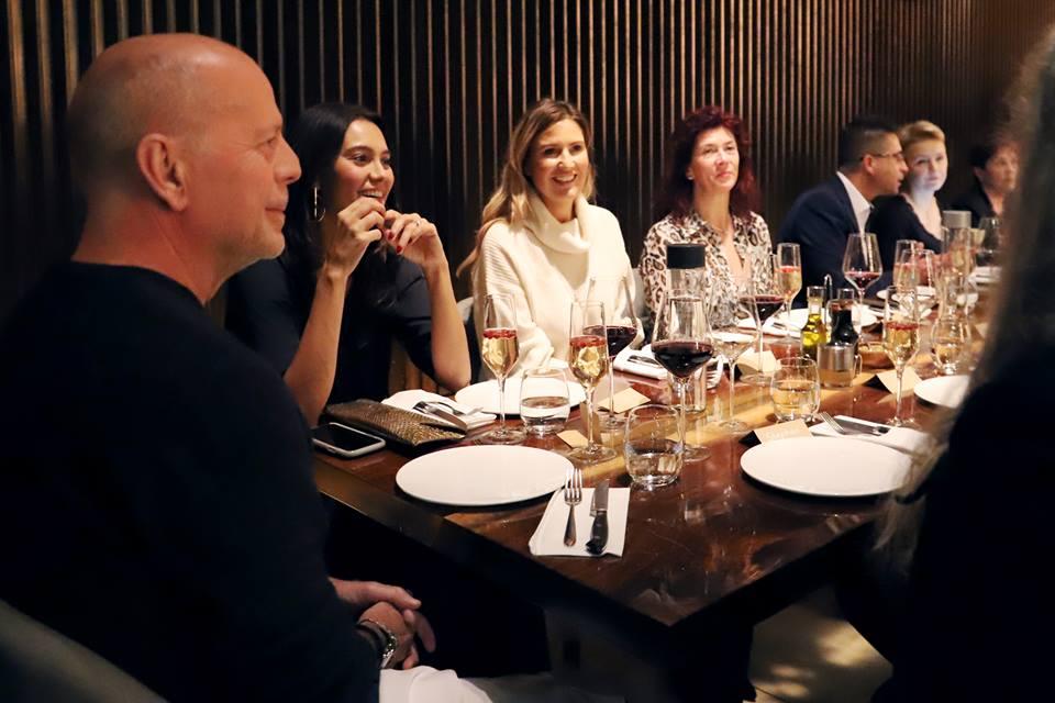 2019 Les partenaires qualifiés pour le repas avec Bruce Willis