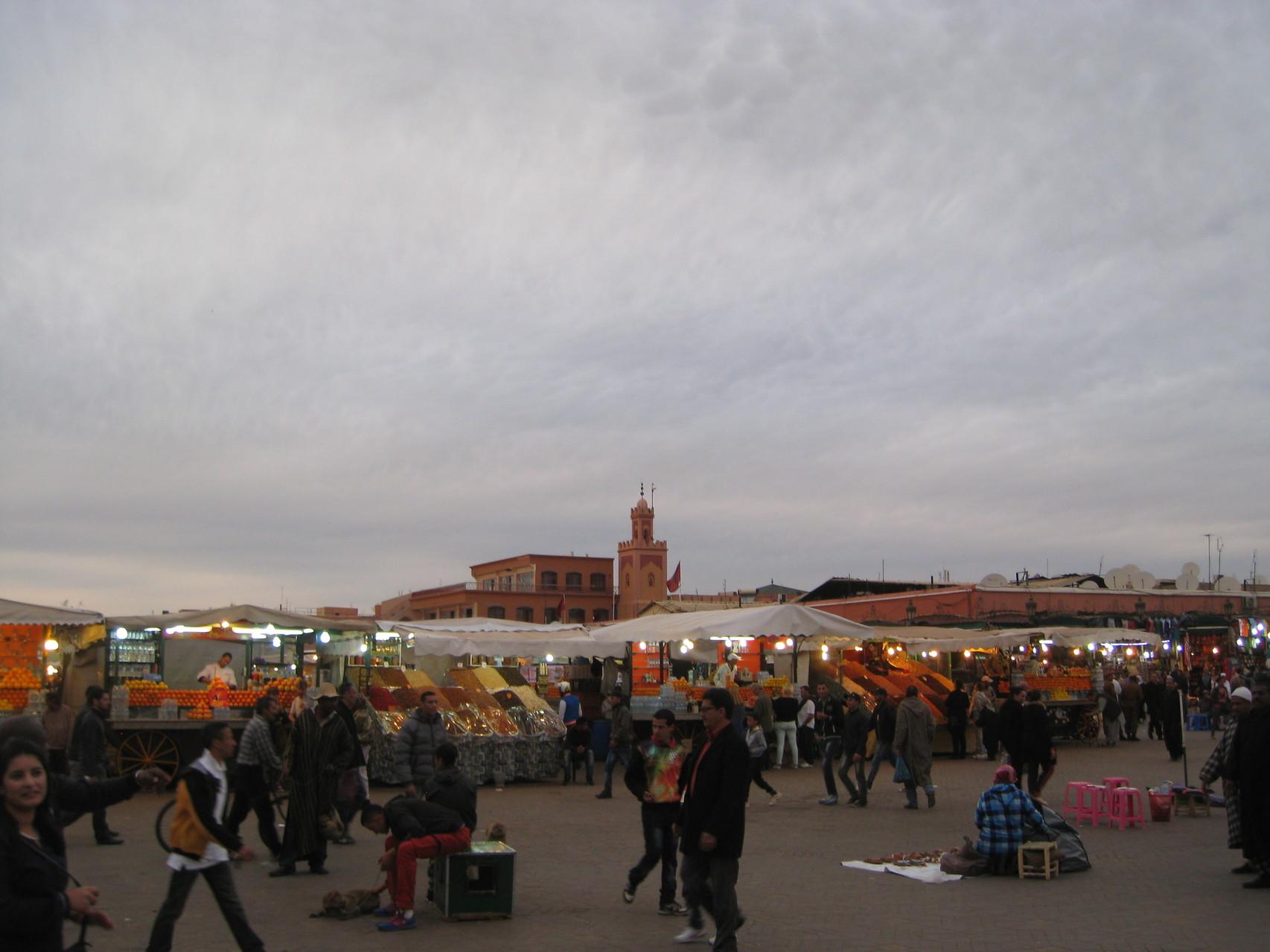 Arrivée à  Marrakech
