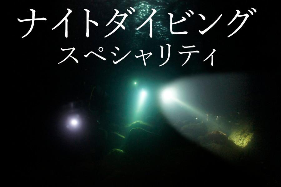 夜の海に冒険に出かけよう!ナイトダイビングスペシャリティ