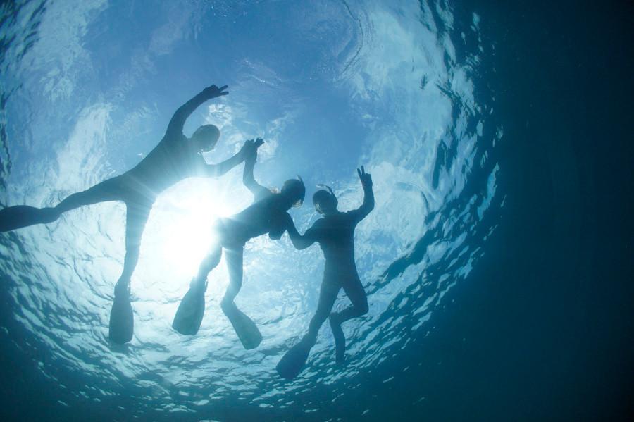 天草体験ダイビングイメージ写真 リラックス風景