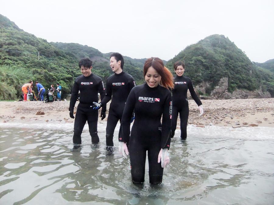 熊本天草体験ダイビングイメージ写真 エントリー風景