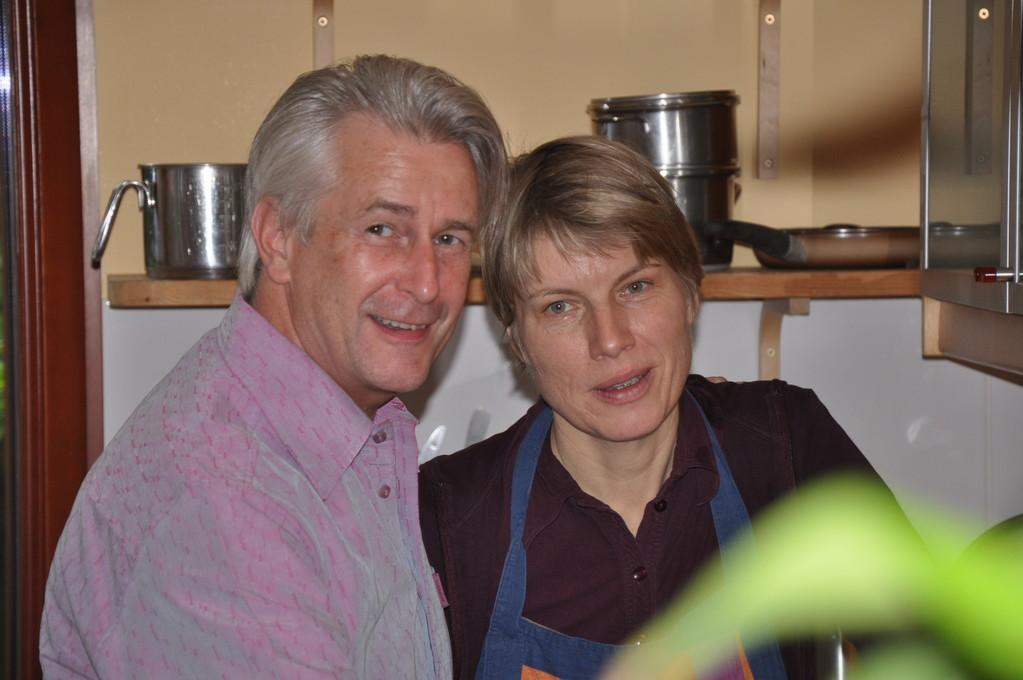 Meine tapfere Helfer:  Helmut & Maxi/my brave helpers