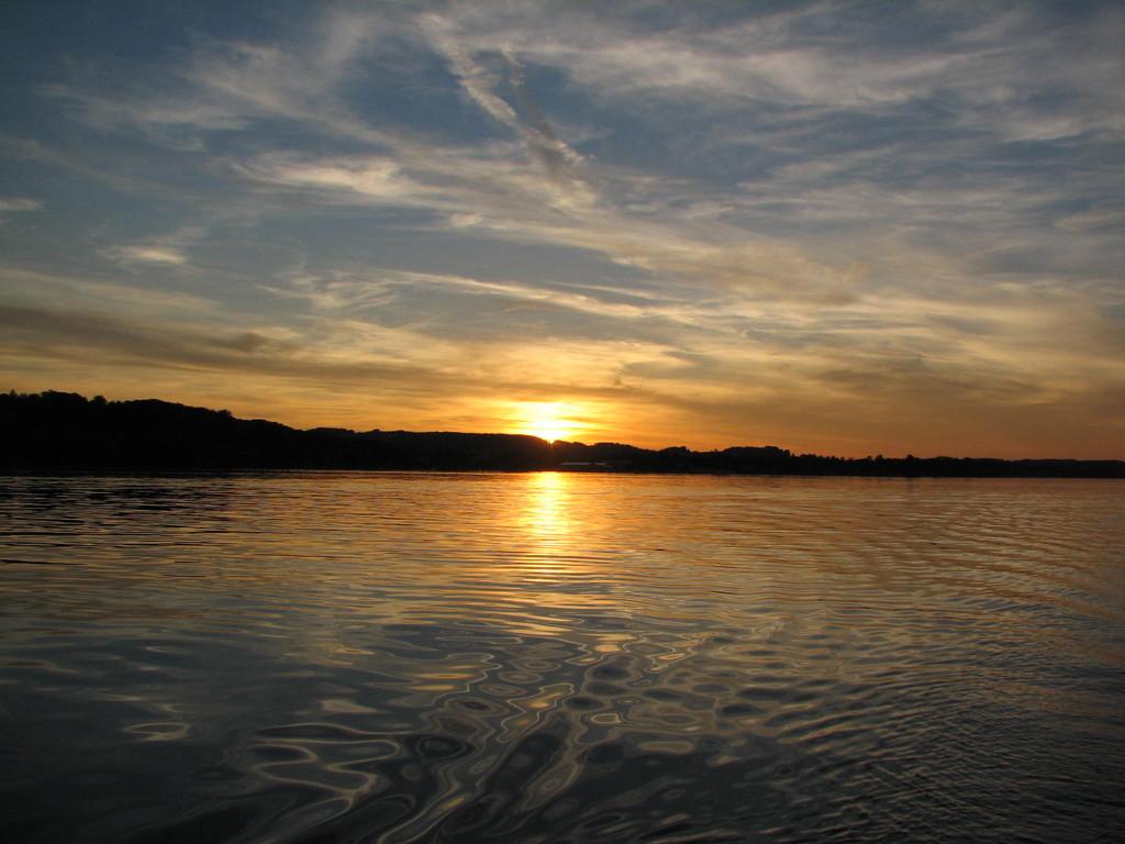 Sonnenuntergang auf Chiemsee