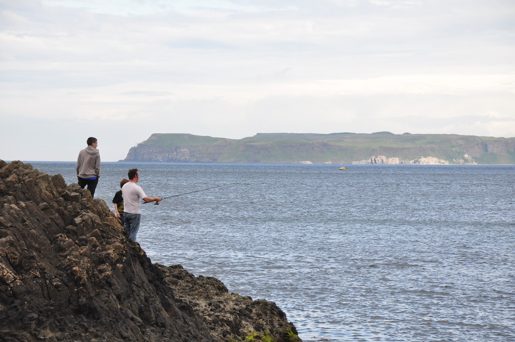 Fishermen at Ballintoy, Co. Antrim