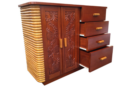 Rattan mahogany carving living board
