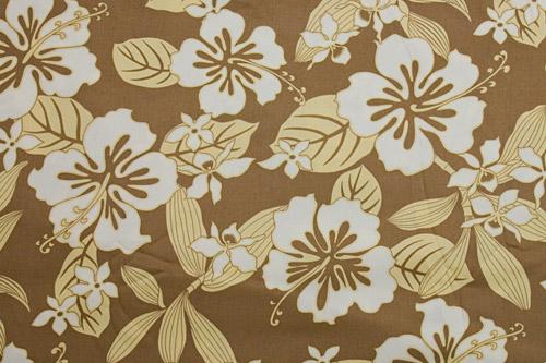 Tahitian Hibiscus Beige Brown <在庫僅か>