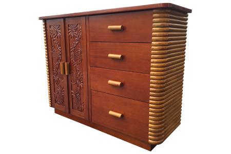 Rattan mahogany carving living board