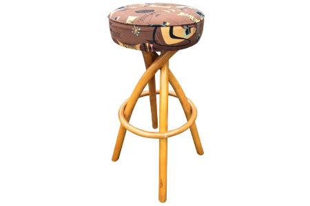 Rattan tiki bar stool