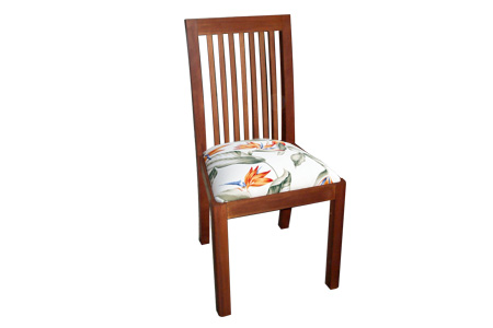 Mahogany sluts back dining chair