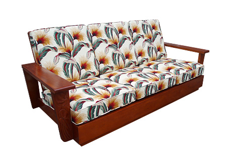 Mahogany front carving sofa three-seat