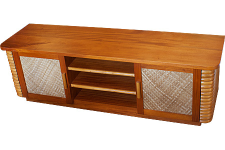 Rattan TV cabinet