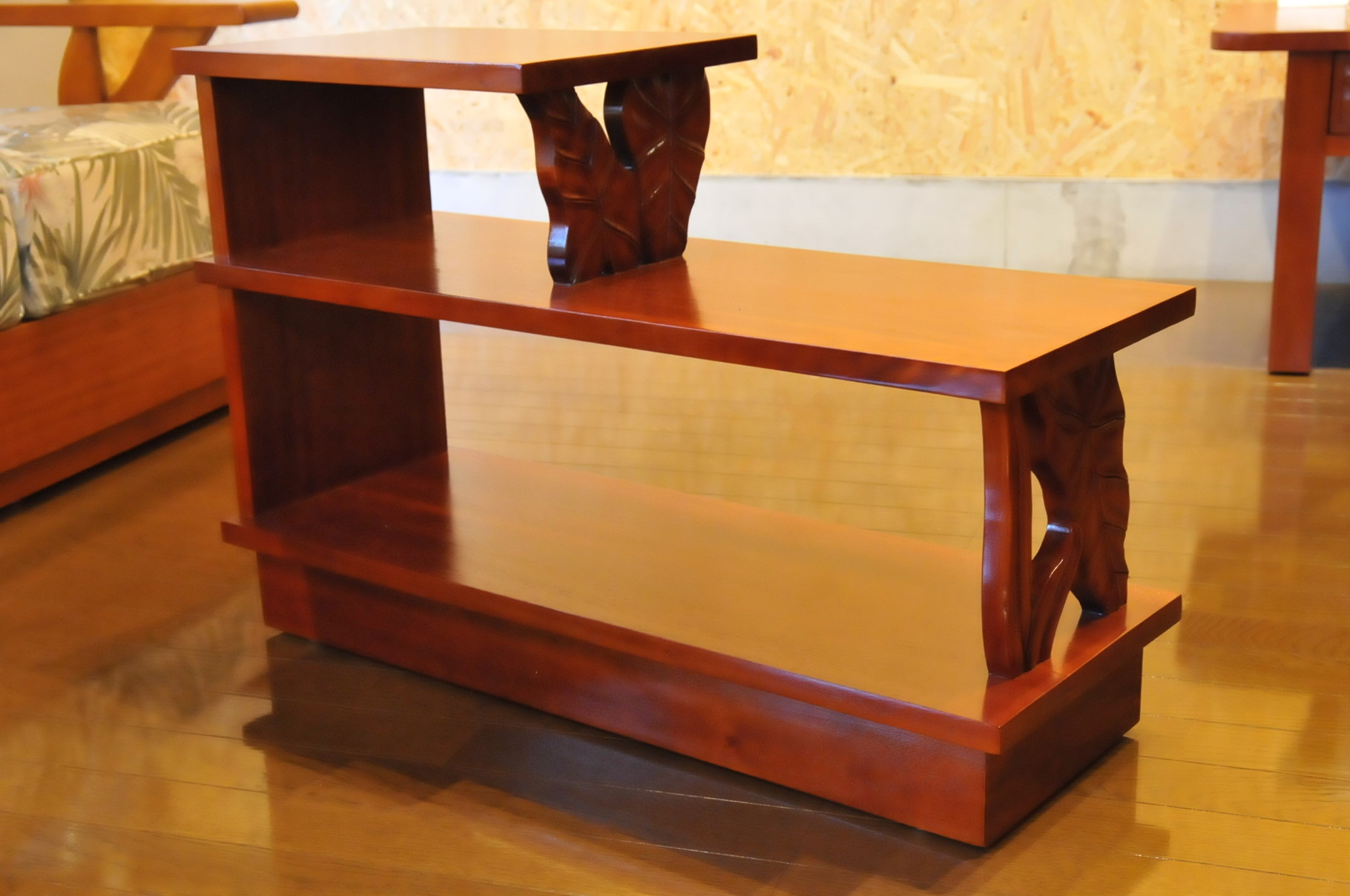 Mahogany step end table