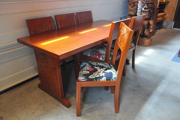 Mahogany dining table Monstera W 1800