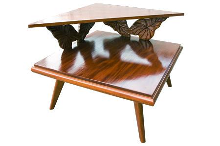Acacia wood royal carving corner table