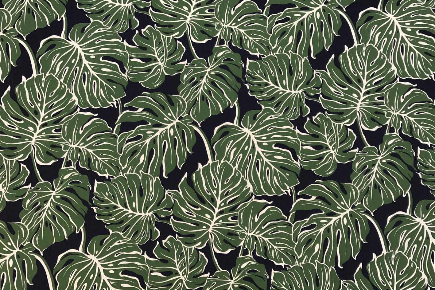 モンステラジャングルグリーンブラック
