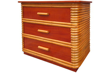 Rattan 3 drawer chest