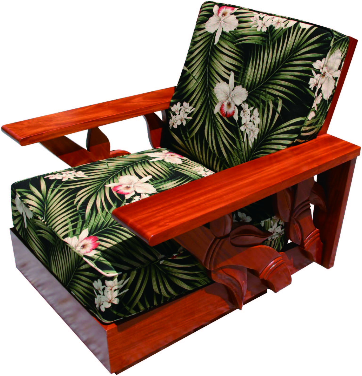 Mahogany side carving sofa 1 piece