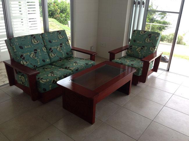 Mahogany front carving sofa 2 seat