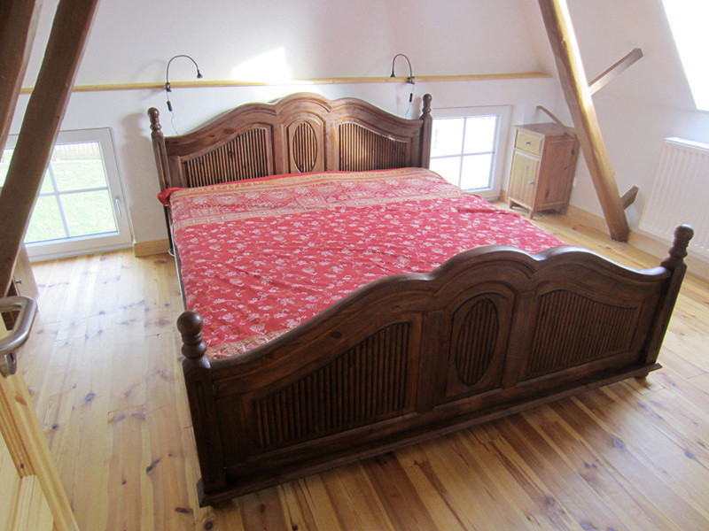 Schlafzimmer, Weißes Scheunenhaus, Dachgeschoss